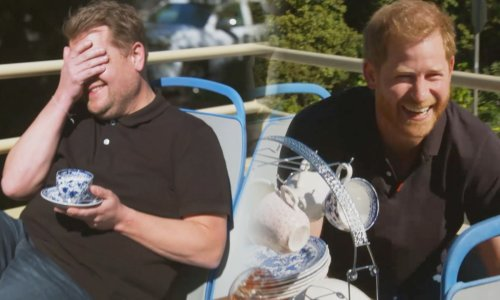 James Corden speaks candidly about Prince Harry leaving the royal family