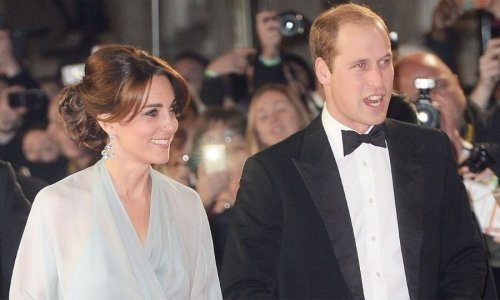 Watch Kate Middleton, Prince William, Prince Charles and Camilla Parker Bowles mingle with the stars on the 'No Time to Die' red carpet