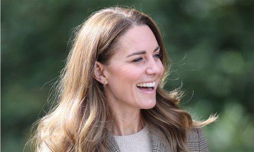 Kate Middleton rocks a heritage print blazer and sun-kissed highlights on royal visit