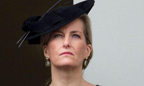 The Countess of Wessex wears sombre dress to mourn Prince Philip