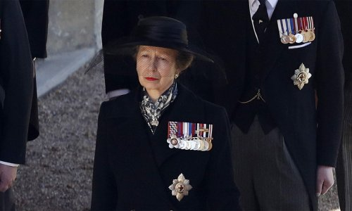 Princess Anne pays tribute to Prince Philip with special military detail at funeral