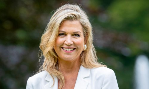 Queen Maxima pictured in colourful co-ord for new appearance