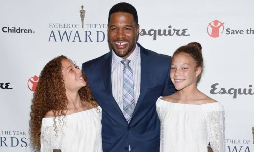 Michael Strahan floors fans with vacation photos alongside twin daughters