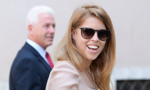 New mum Princess Beatrice is cosy in her Zara puffer coat for sweet snaps with baby Sienna