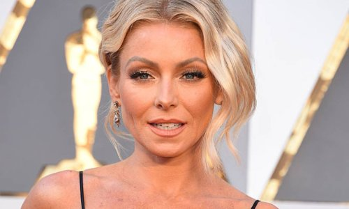 Kelly Ripa nearly suffered a wardrobe malfunction in a dreamy dress with a daring slit