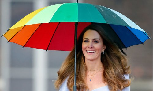 Royal fans are obsessed with Kate Middleton's rainbow umbrella – and Amazon is selling a £7.99 version
