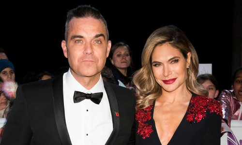 Robbie Williams and Ayda Field's children are their doubles in cute new photos