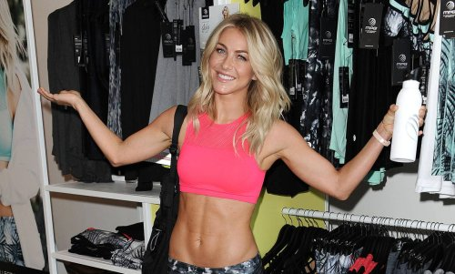 Julianne Hough takes the plunge with daring waterfall display