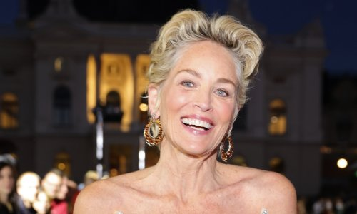 Sharon Stone dazzles in sensational gold gown you need to see to believe