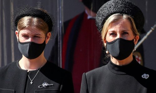 Countess Sophie and Lady Louise Windsor look almost identical at Prince Philip's funeral