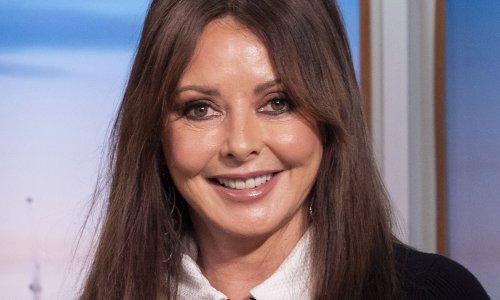 Carol Vorderman poses with pink hair – and she looks so different