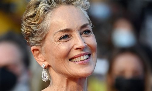Sharon Stone causes a stir in unexpected beachside outfit