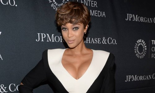 Tyra Banks causes a stir with throwback photo wearing red lingerie