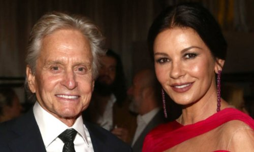 Catherine Zeta-Jones and Michael Douglas look so in love as they celebrate wonderful news together