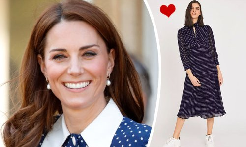 This Marks & Spencer spotty dress is a total Kate Middleton vibe, don't you think?