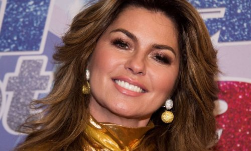 Shania Twain stuns in string bikini and sheer cover-up during vacation gone by