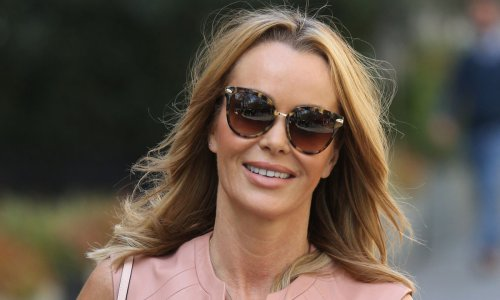 Amanda Holden struts in ultra flattering leather dress - and we're in love
