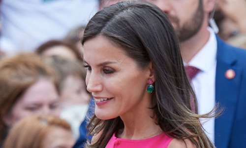 Queen Letizia makes a bold statement in the colour of the moment