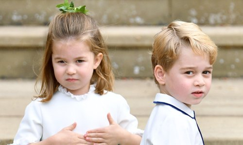 Who is looking after Prince William and Kate's children while they attend Prince Philip's funeral?