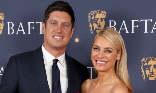 Tess Daly looks sensational in the most 'extra' Strictly-inspired dress on date with Vernon Kay
