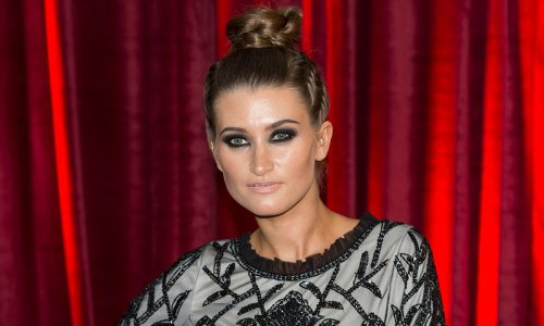 Charley Webb stuns in black swimsuit during family excursion