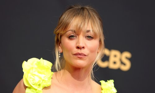 Kaley Cuoco wows fans in eye-catching neon dress as she makes Emmys 2021 appearance