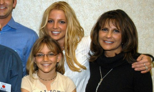 Britney Spears' mother steals the show in rare family photo