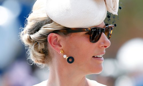 Zara Tindall bonds with her grandmother the Queen's horse ahead of Ascot race