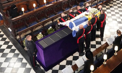 Why the Queen was not seated in the front row in the chapel at Prince Philip's funeral