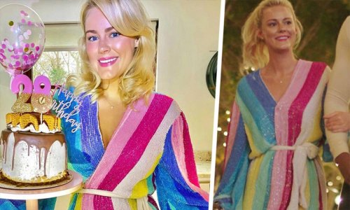 Loved Georgia's Love Island entrance rainbow dress? Well, it's an A-list favourite