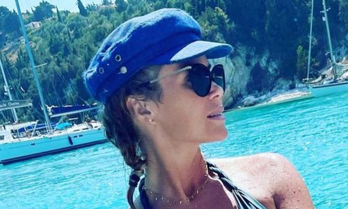 Amanda Holden's plunging bikini sends fans wild