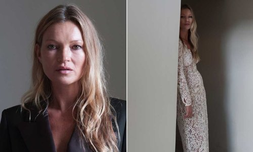 Kate Moss looks flawless in bridal-inspired gown for gorgeous new campaign