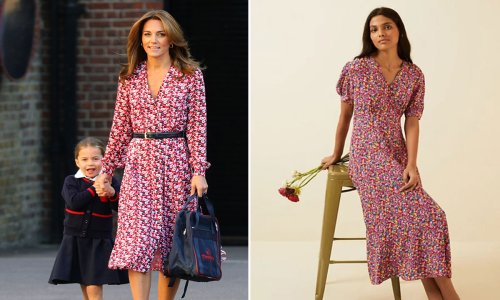 Remember Kate Middleton's Michael Kors dress? This new Marks & Spencer midaxi is giving us all the vibes