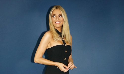 Tess Daly turns up the glam in velvet mini dress on Strictly Come Dancing