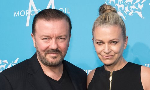 Ricky Gervais and partner Jane surprise fan with 'incurable stomach cancer'