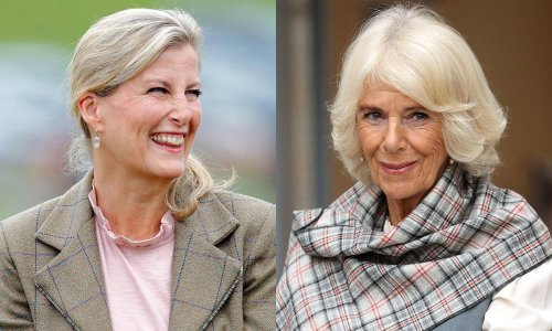 Duchess Camilla and Countess Sophie just almost dressed like twins