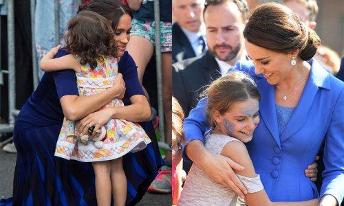 Kate Middleton, Meghan Markle and more royals hugging fans
