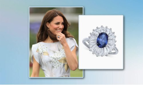 Macy's has a lookalike of Kate Middleton's sapphire ring on sale for $34 - that's 75% off!