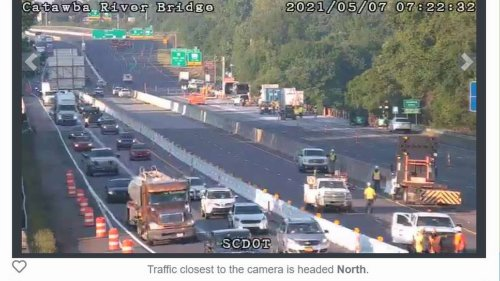 See how the first rush hour looked during I-77 bridge work in Rock Hill, Fort Mill
