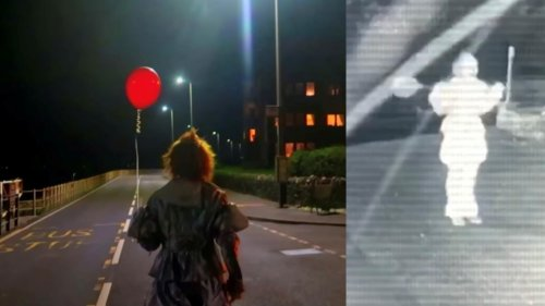 Scary 'Pennywise clown' terrifying residents in Scottish village