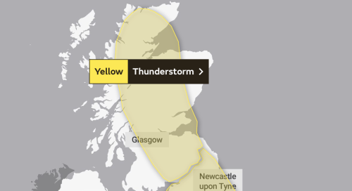 Scotland's heatwave to end as Met Office issue thunderstorm warning