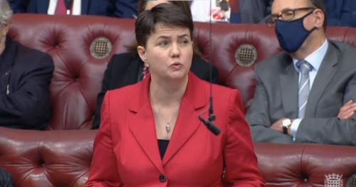 Ruth Davidson admits 'cowardice' in Holyrood vote during maiden speech in the Lords