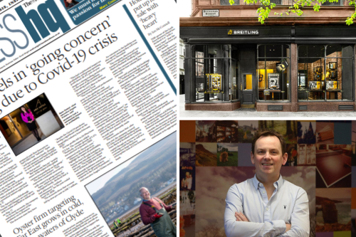 Scottish hotel group in 'going concern' warning   Luxury watchmaker opens Glasgow boutique