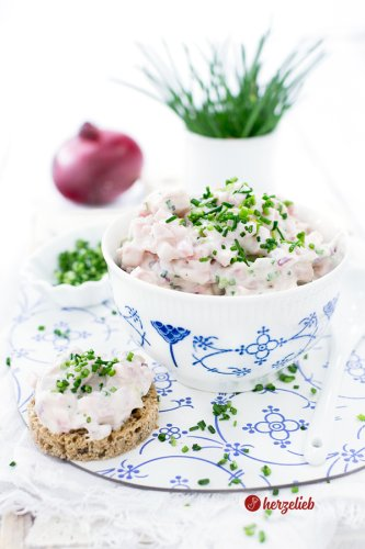Skinkesalat Rezept - schneller Schinkensalat aus Dänemark