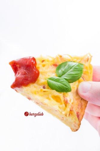 Spaghetti Pizza Rezept - leckere Spaghetti Frittata!