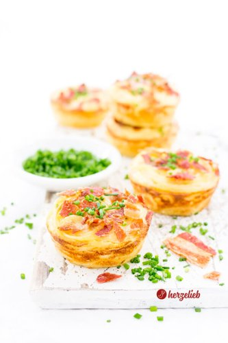 Spaghetti Carbonara Muffins Rezept – Party- oder Fingerfood