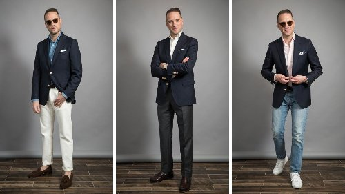Easy Men's Navy Blazer Outfits for Spring 2021