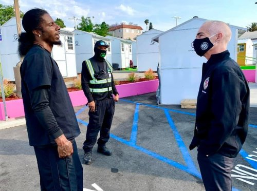 New tiny home village in Echo Park can house 74 homeless Angelenos