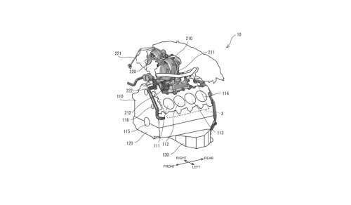 Patent drawings suggest Toyota twin-turbo V-8 is still alive