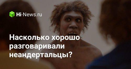 Насколько хорошо разговаривали неандертальцы? - Hi-News.ru